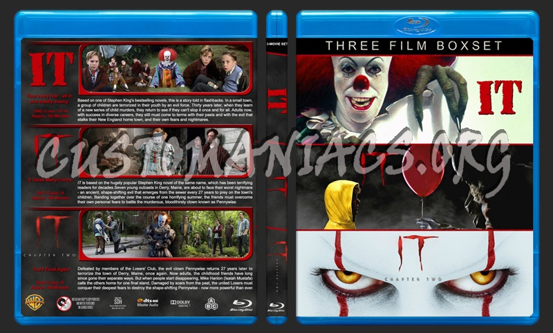 IT Triple Feature blu-ray cover