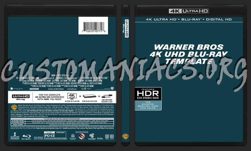 Thread Status Dvd Cover Or Label Warner Bros 4k UHD Blu Ray Template