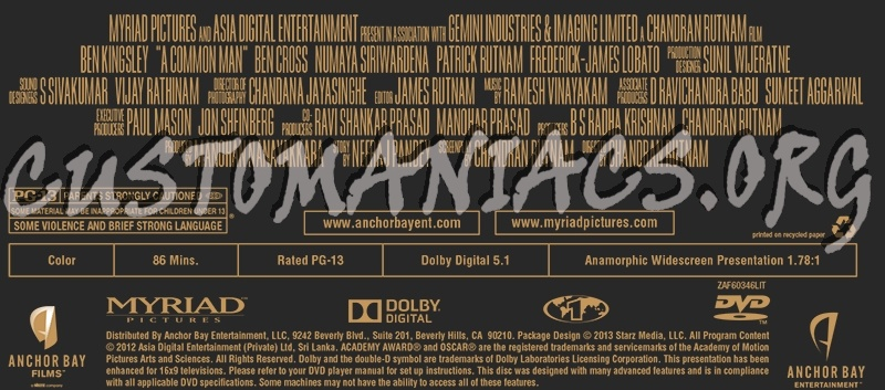 Forum Credits - Page 54 - DVD Covers & Labels by Customaniacs A Common Man Dvd