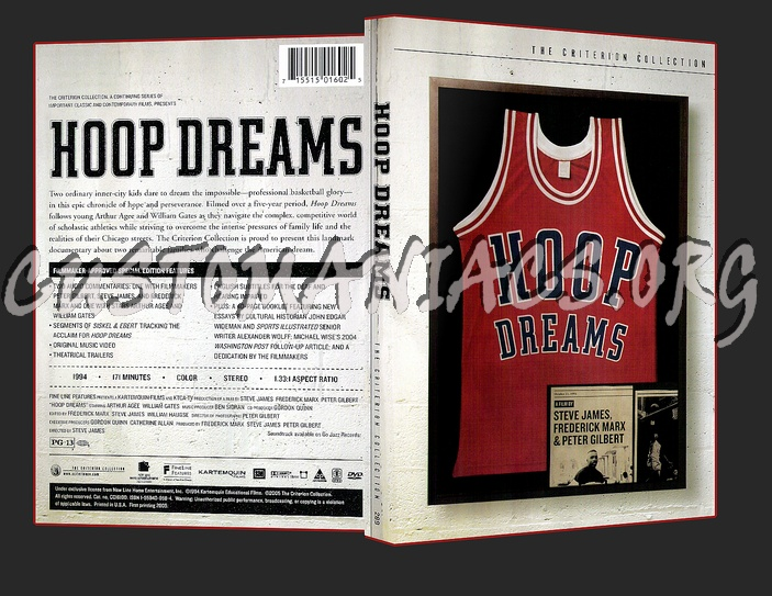hoop dreams criterion essay Filmed over a five-year period, hoop dreams, by steve james, frederick marx,  and  criterion have one of their liner notes booklets - this with essays by author .