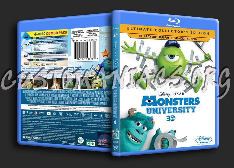 Disney Pixar Monsters University 3 Piece Room In A Box: Forum Custom Blu-Ray Covers