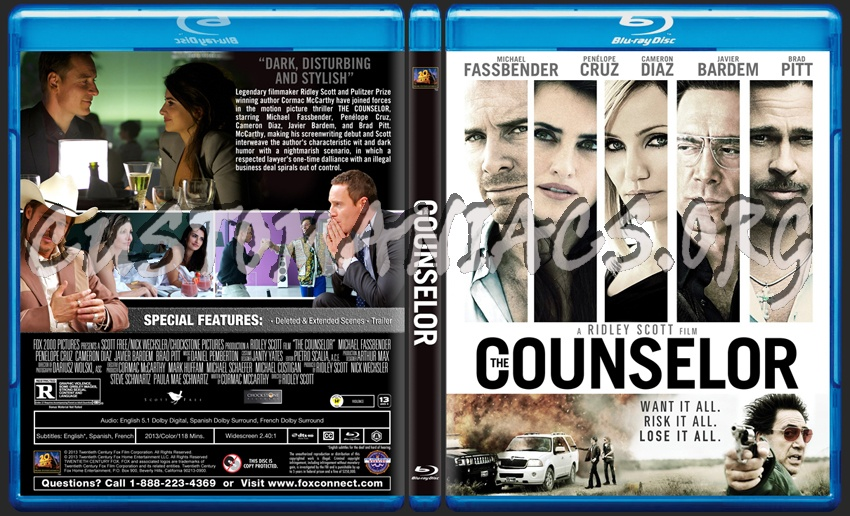 the counselor  dvd cover the counselor