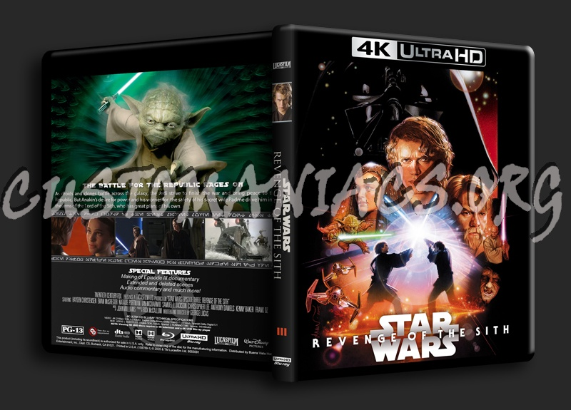 Star Wars Revenge Of The Sith 4k Blu Ray Cover Dvd Covers Labels By Customaniacs Id 261581 Free Download Highres Blu Ray Cover