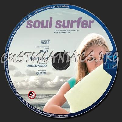 Surfer Blu Soul Surfer Blu-ray Label