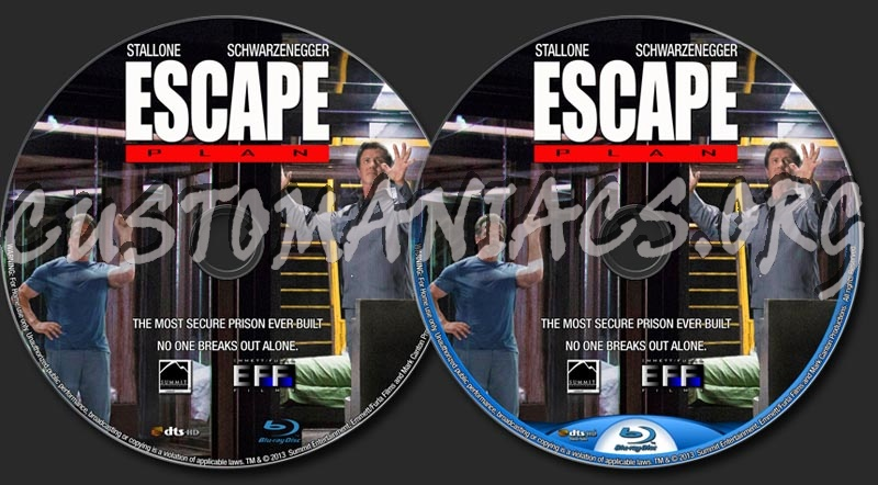 Escape Plan Dvd Label Dvd Label Escape Plan
