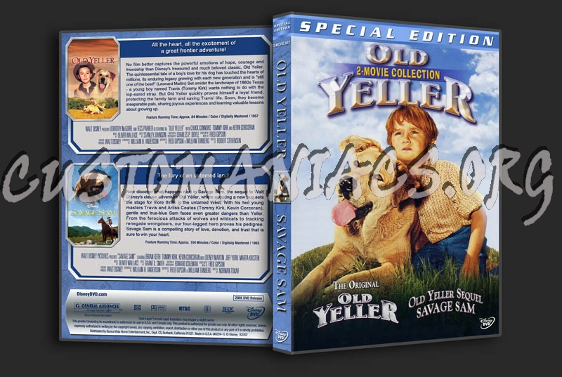 Old Yeller / Savage Sam Double Dvd Cover
