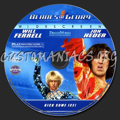Blades of Glory Dvd Cover Blades of Glory Dvd Label