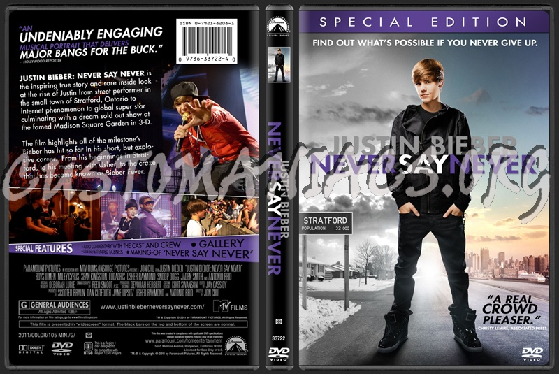 justin bieber never say never 2011 dvd cover. Justin Bieber: Never Say Never