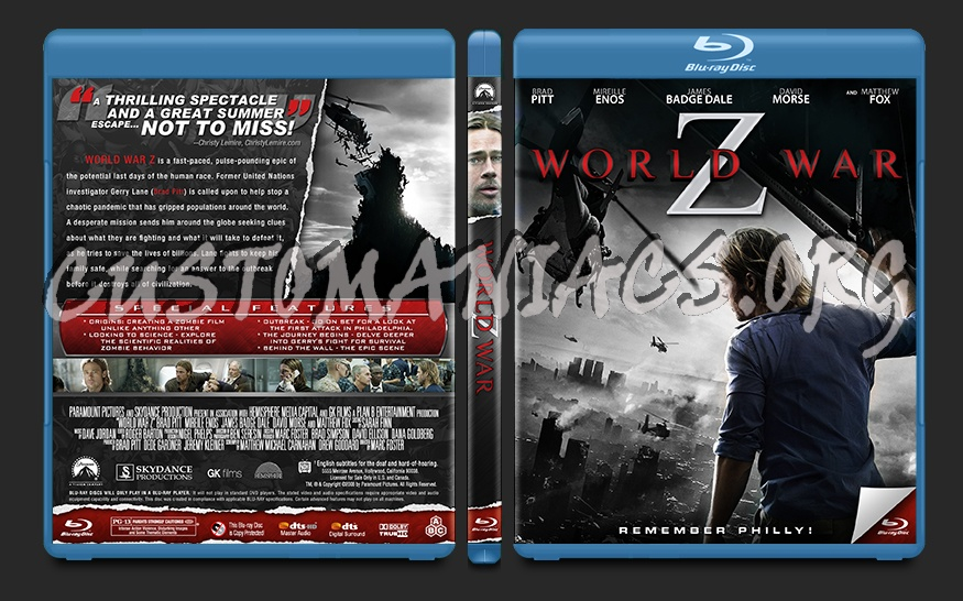 World War z Blu Ray Cover World War z Blu-ray Cover