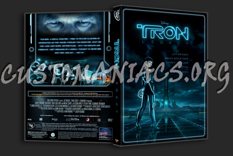 tron legacy dvd cover art. As dvd front cover art and
