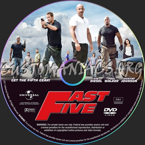 fast five dvd cover. Fast Five