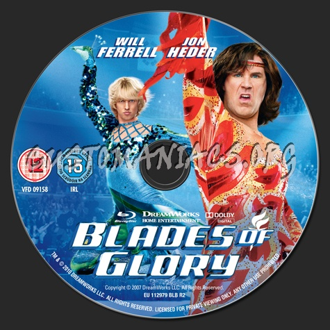 Blades of Glory Dvd Cover Dvd Label Blades of Glory