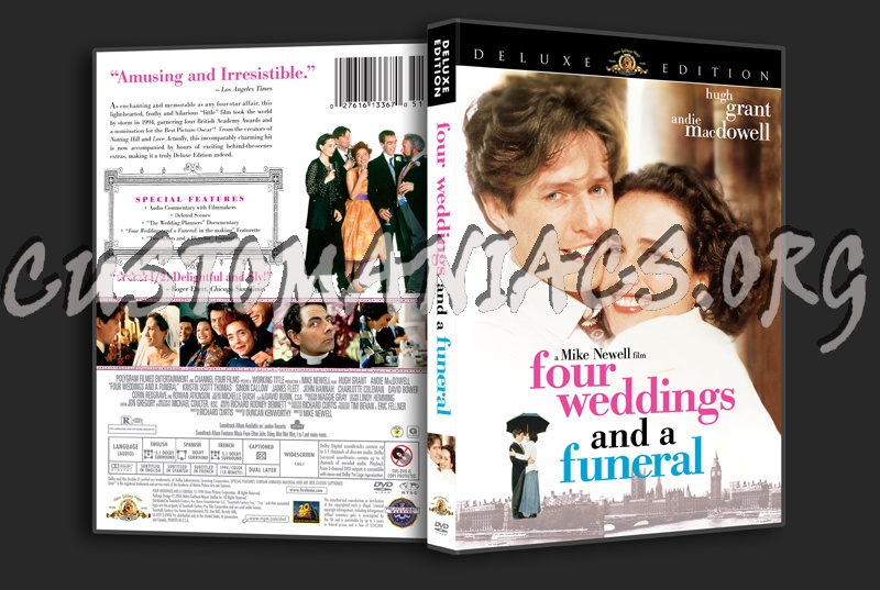 four weddings and a funeral book report Four weddings and a funeral, delightful and sly, is a comedy about people who seem to live out their lives in public, attending weddings.