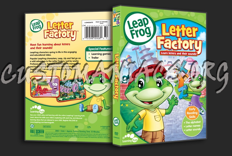 leap frog letter factory dvd cover