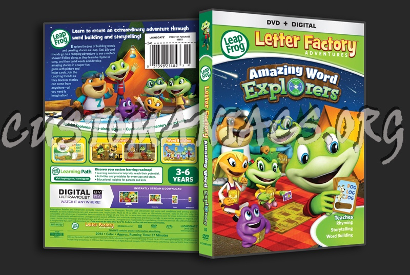 leapfrog letter factory 2009 1 disc new dvd leap frog letter factory amazing word explorers dvd cover 162