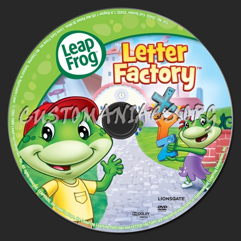 leap frog letter factory dvd label