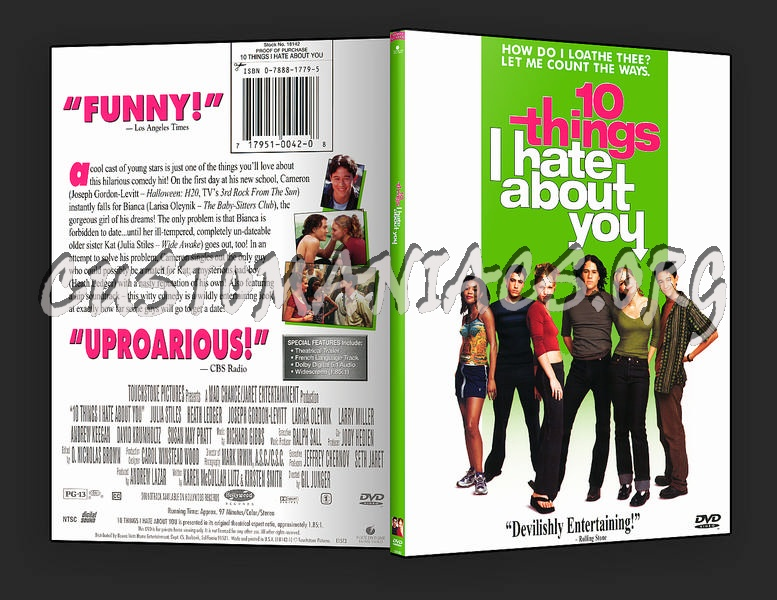 10 Things I Hate About You Cover: DVD Covers & Labels By