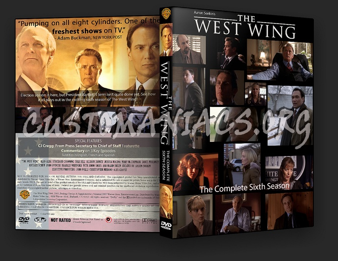 the west wing season six dvd cover dvd covers labels by customaniacs id 188288 free. Black Bedroom Furniture Sets. Home Design Ideas