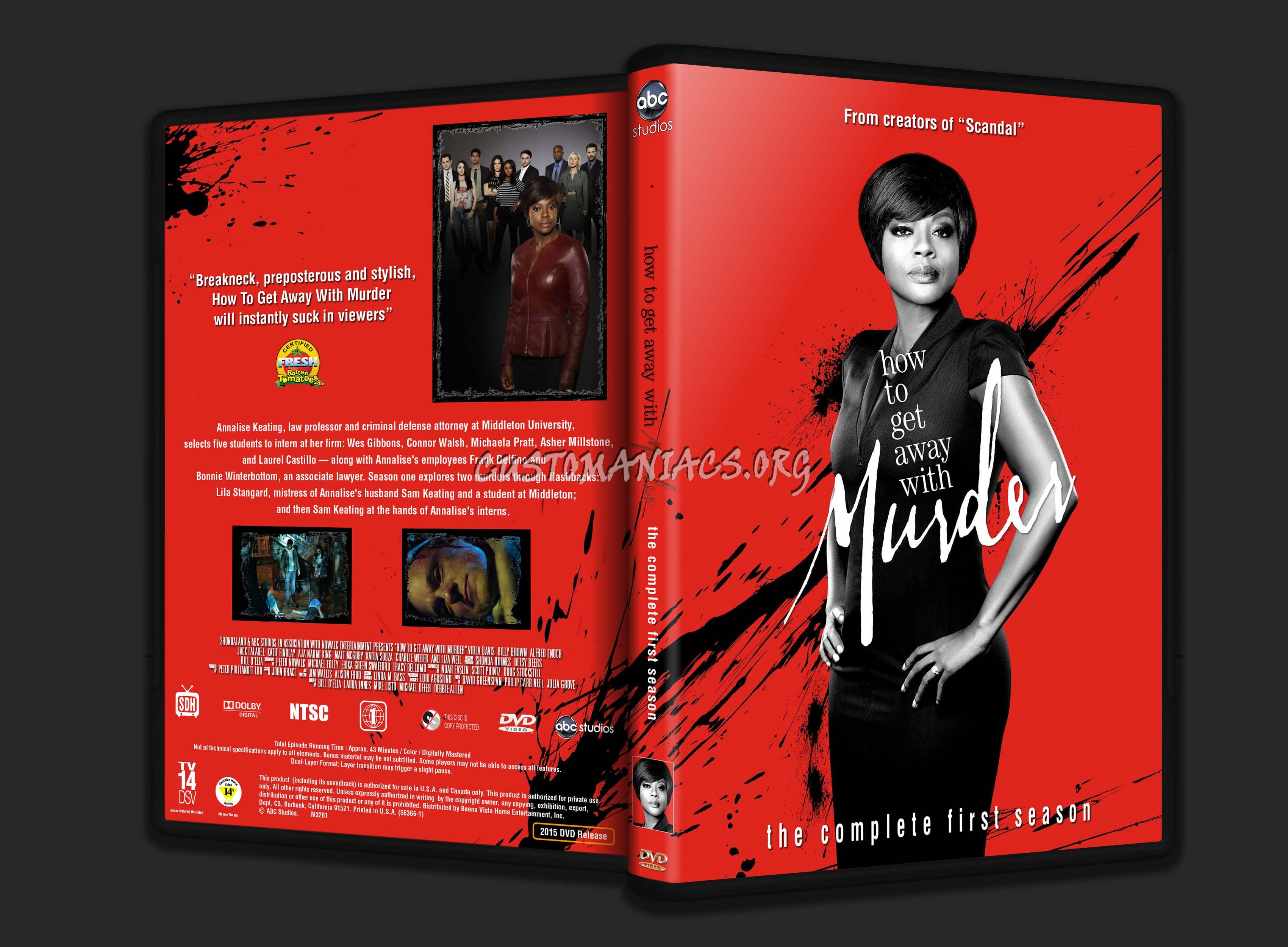 How To Get Away With Murder Season One Dvd Cover '