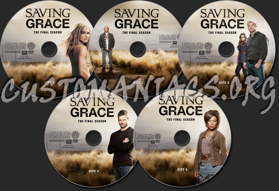 Saving Grace Season 3 Dvd Label