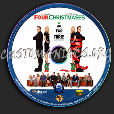 Four Christmases Dvd Cover