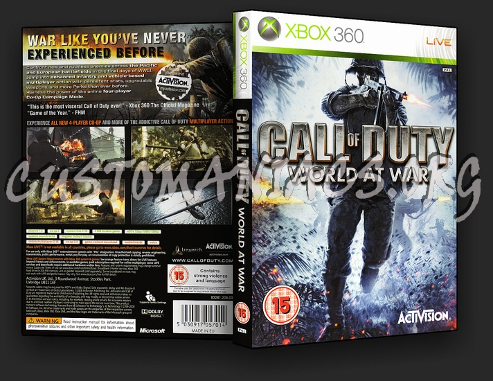 how to draw call of duty world at war cover